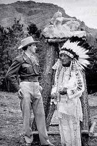 Korczak Ziolkowski with Lakota Chief Standing Bear, circa 1947.