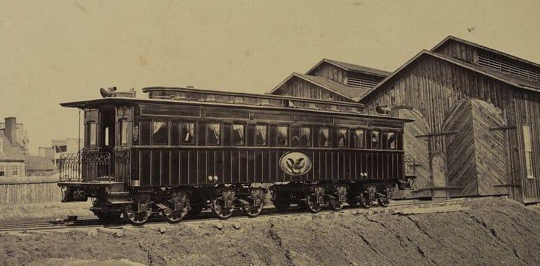 President Lincoln's Funeral Car in Alexandria, Virginia