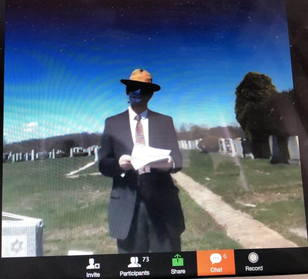 A virtual funeral changes perspective
