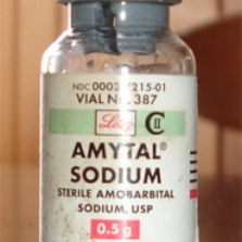 bottle of Amytal Sodium